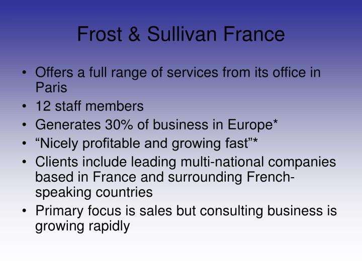 Frost & Sullivan France
