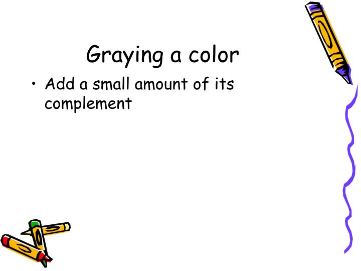 Graying a color