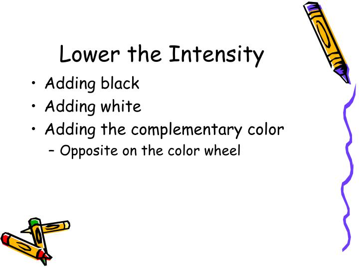 Lower the Intensity
