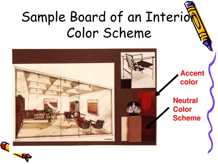 Sample Board of an Interior Color Scheme