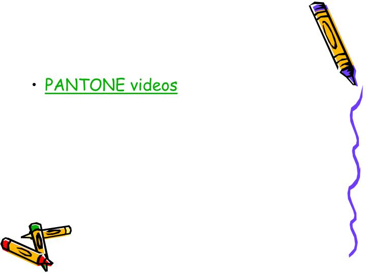 PANTONE videos