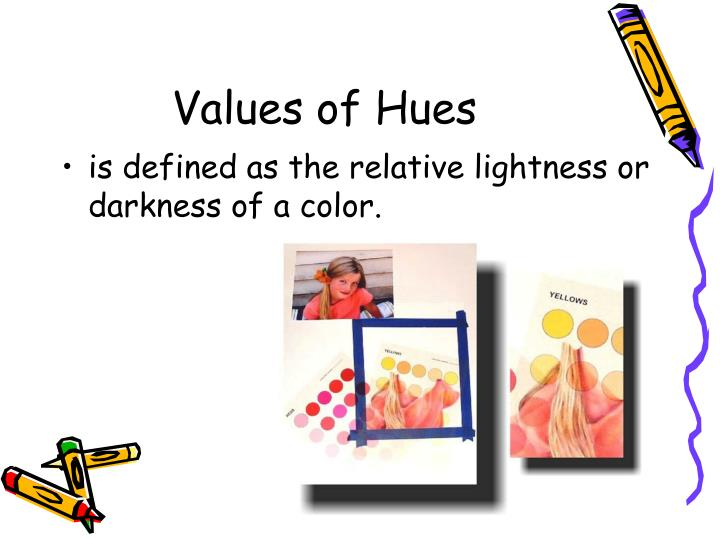 Values of Hues