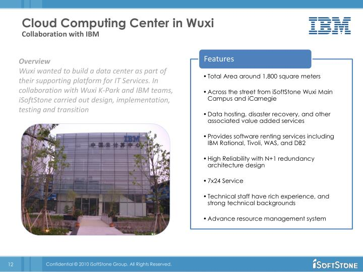 Cloud Computing Center in Wuxi