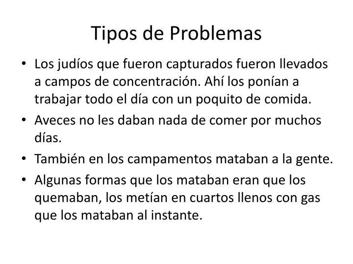 Tipos de Problemas
