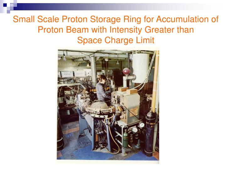 Small Scale Proton Storage Ring for Accumulation of Proton Beam with Intensity Greater than