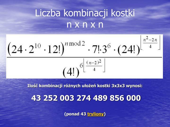 Liczba kombinacji kostki