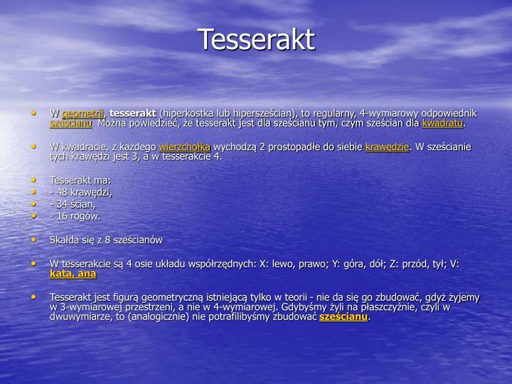 Tesserakt