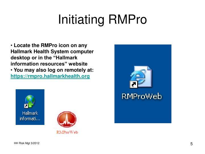 Initiating RMPro