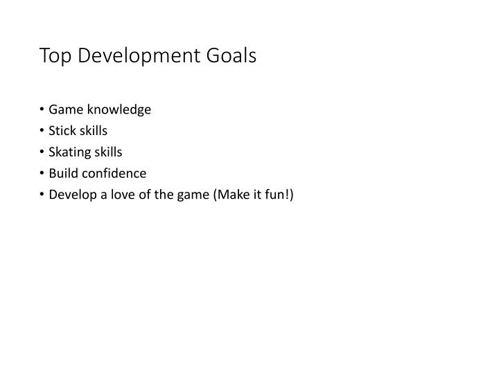 Top Development Goals