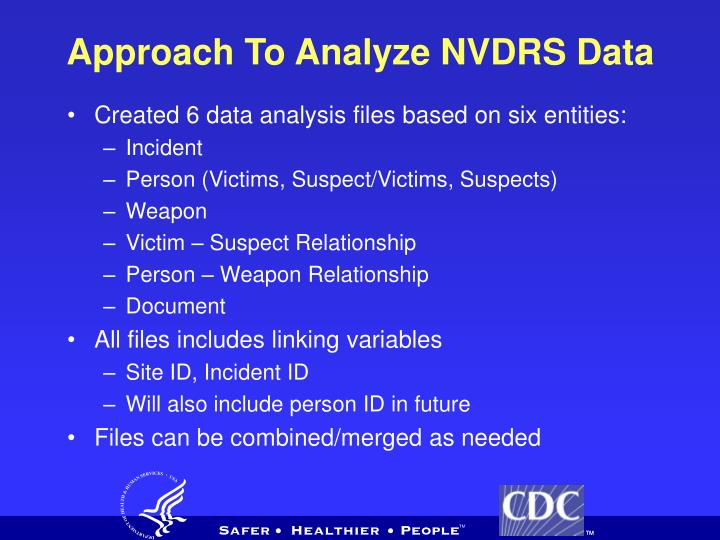 Approach To Analyze NVDRS Data