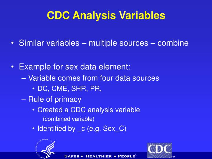CDC Analysis