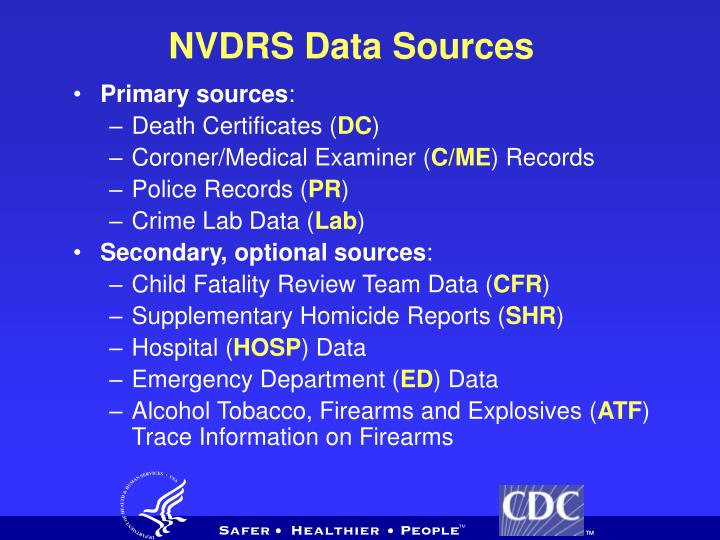 NVDRS Data Sources
