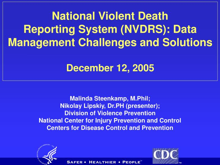 National Violent Death