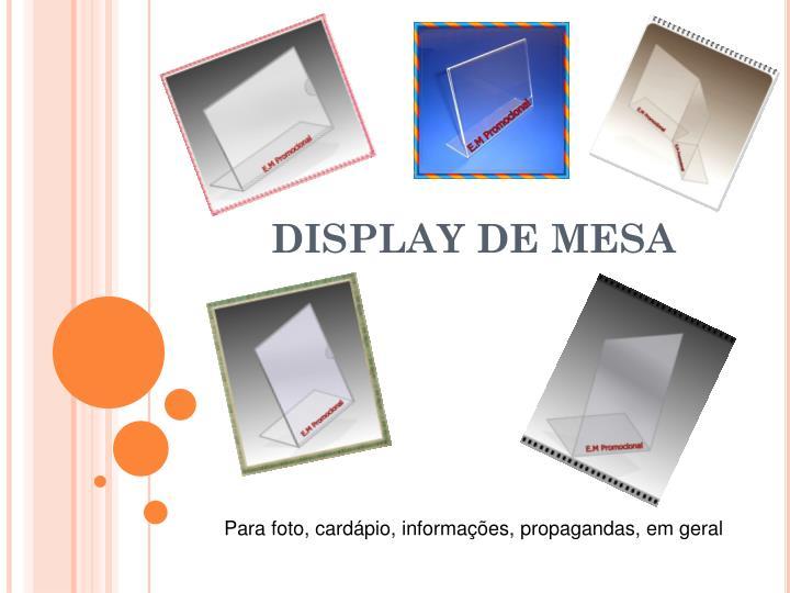 DISPLAY DE MESA