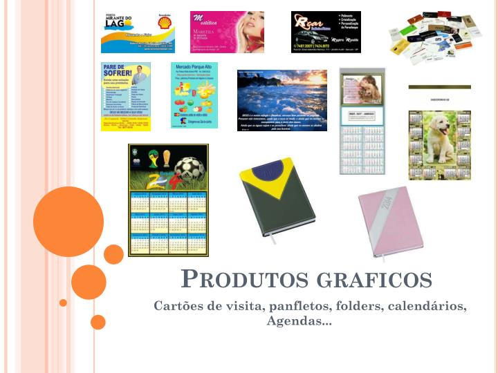 Produtos graficos