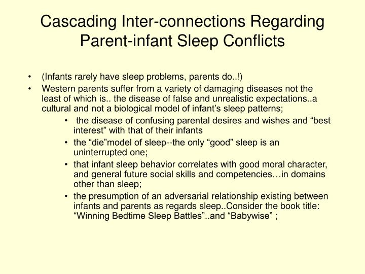 Cascading Inter-connections Regarding Parent-infant Sleep Conflicts
