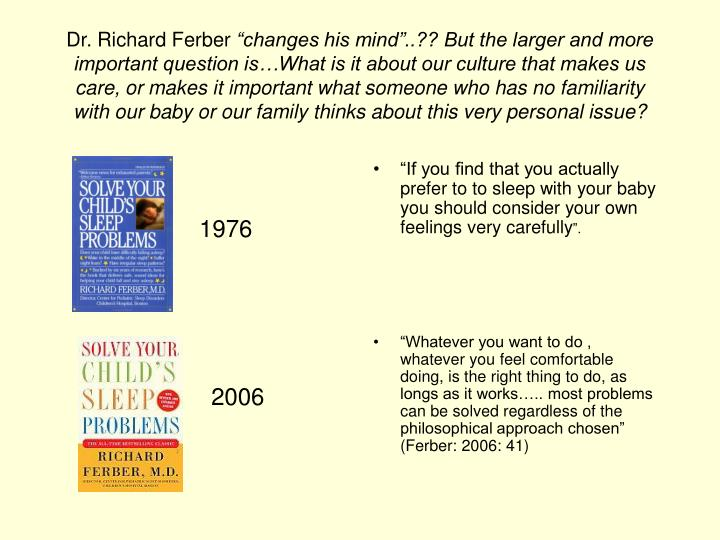 Dr. Richard Ferber