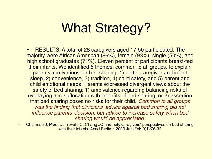 What Strategy?