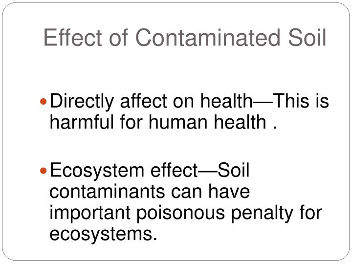 Effect of contaminated s oil