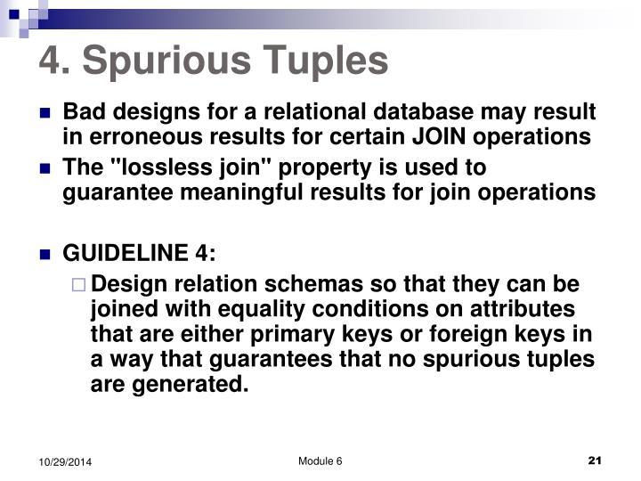 4. Spurious Tuples