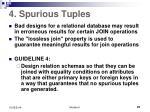 4 spurious tuples