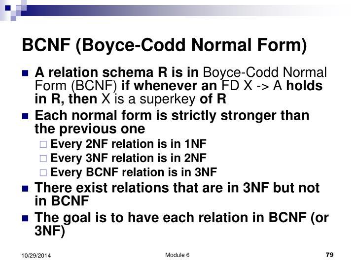 BCNF (Boyce-Codd Normal Form)