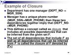 example of closure