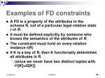 examples of fd constraints1