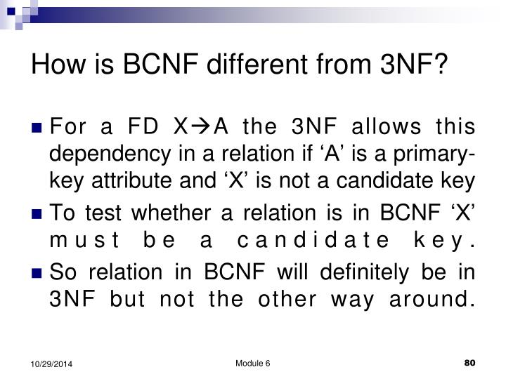 How is BCNF different from 3NF?