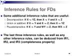 inference rules for fds1