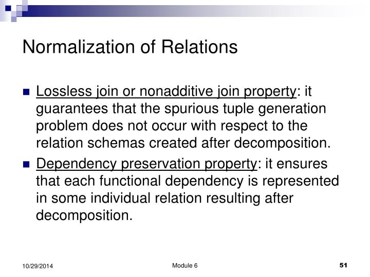 Normalization of Relations