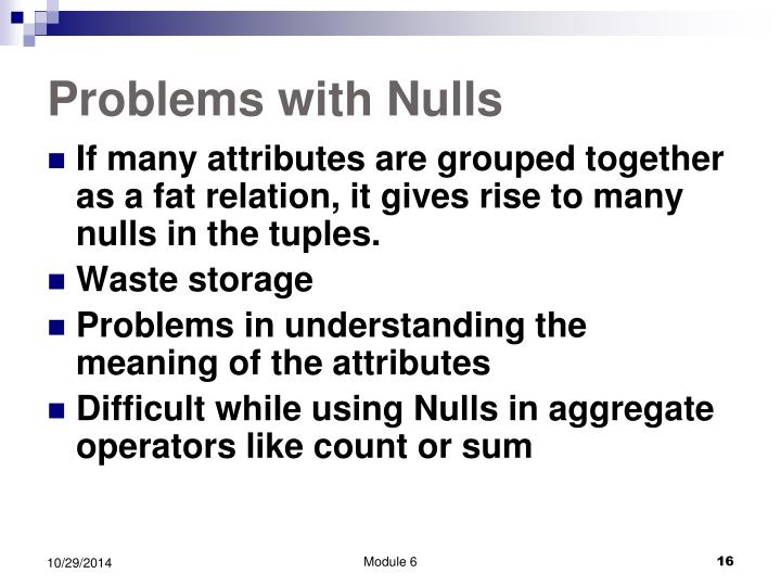 Problems with Nulls