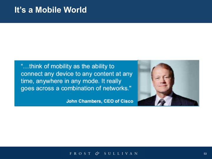 It's a Mobile World