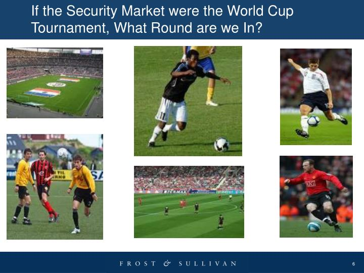 If the Security Market were the World Cup Tournament, What Round are we In?