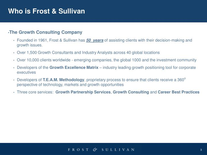 Who is Frost & Sullivan