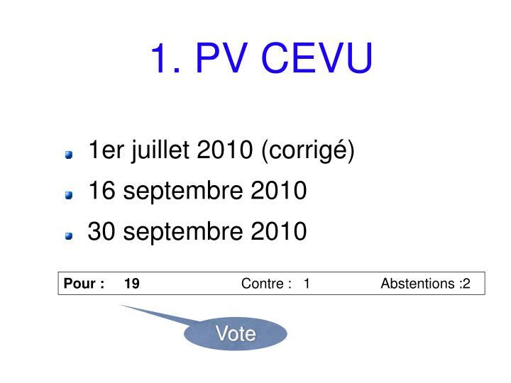 1. PV CEVU