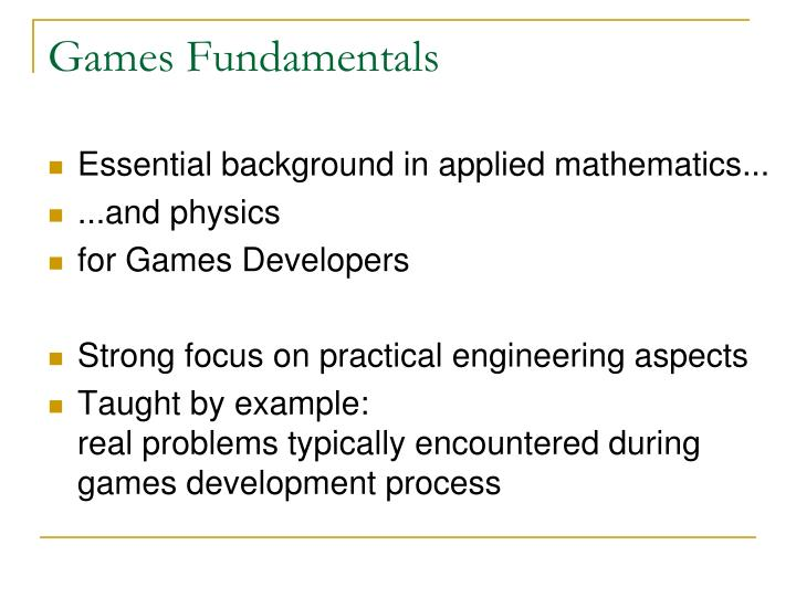 Games Fundamentals