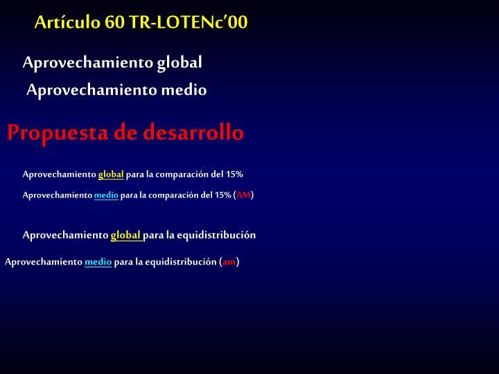 Artículo 60 TR-LOTENc'00