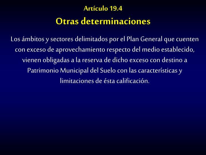 Artículo 19.4