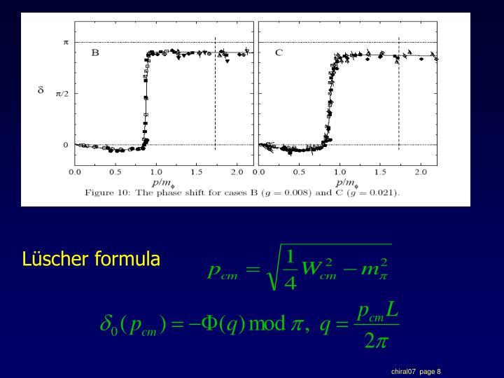 Lüscher formula