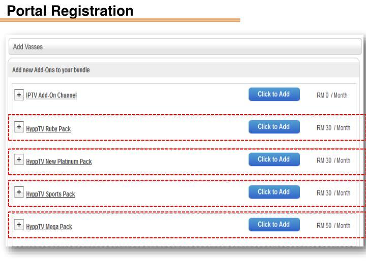 Portal Registration