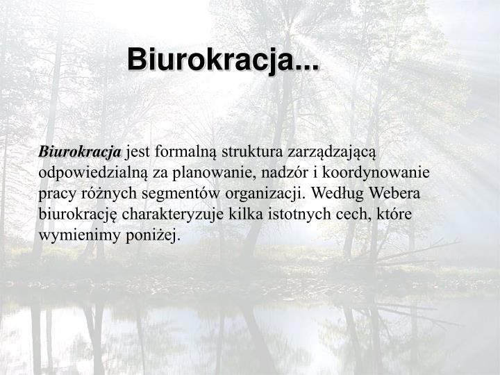 Biurokracja...