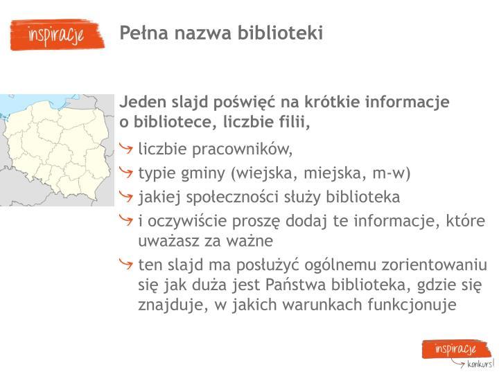 Pena nazwa biblioteki