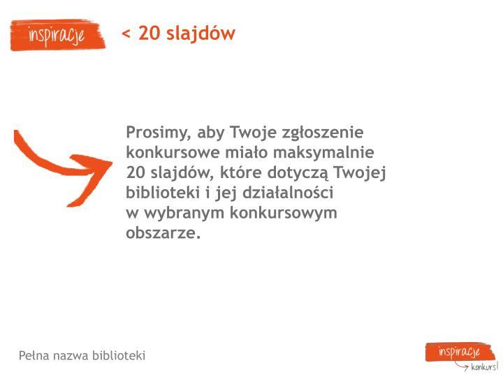 < 20 slajdów