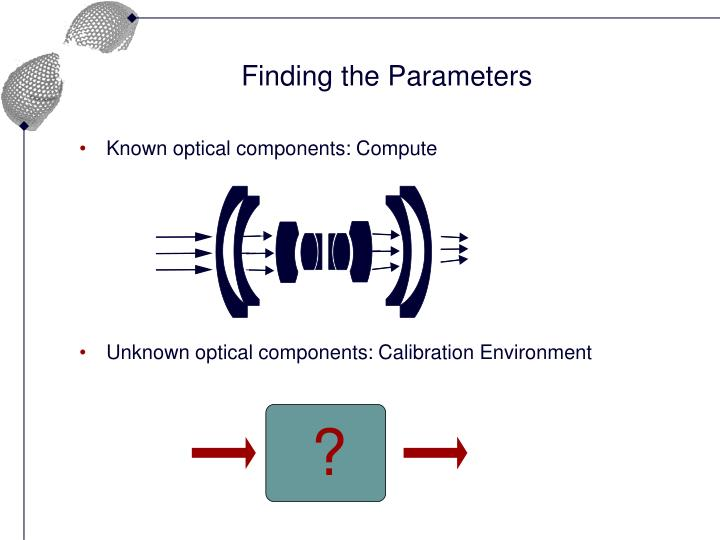 Finding the Parameters