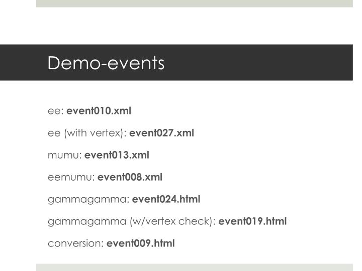 Demo-events