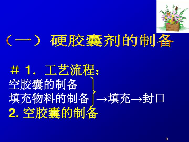 (一)硬胶囊剂的制备
