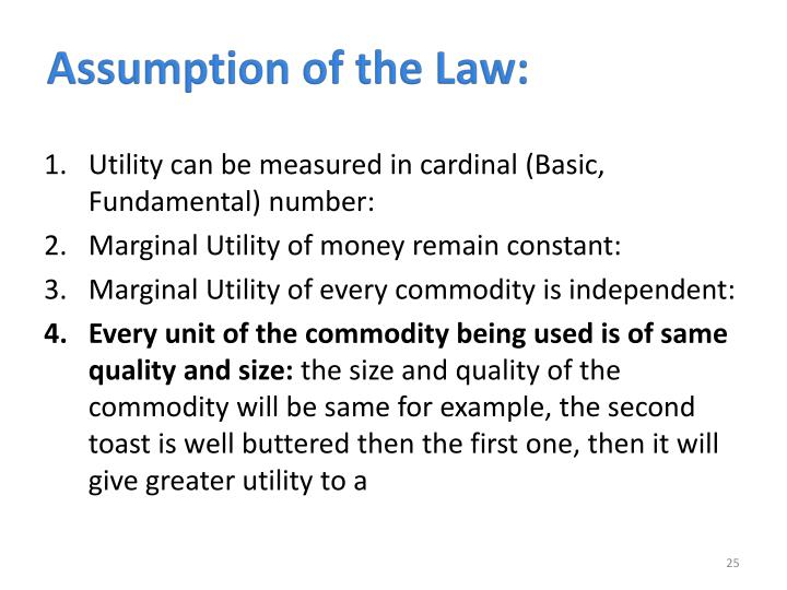Assumption of the Law:
