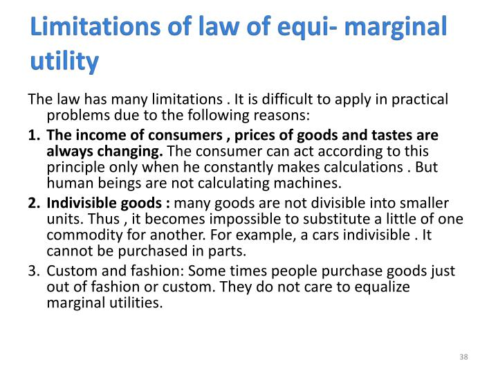 Limitations of law of