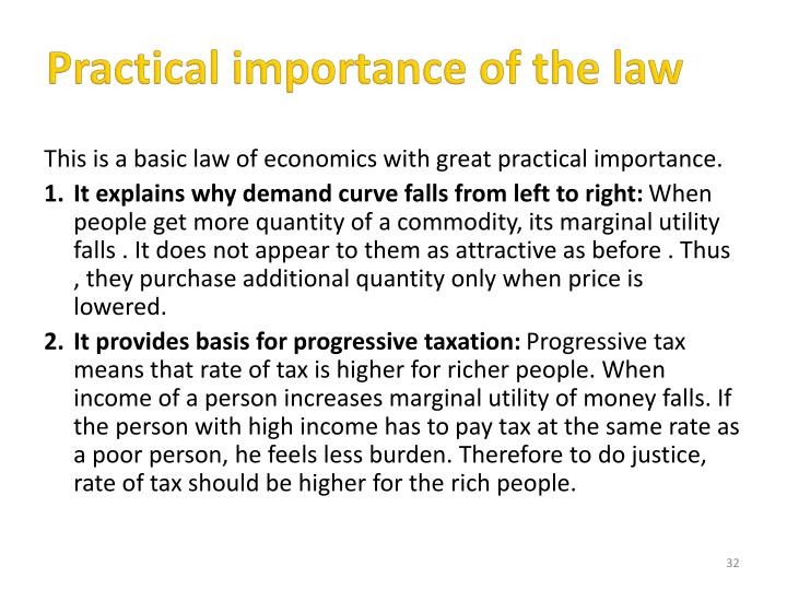 Practical importance of the law